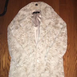 Kenneth Cole Tan Fur coat